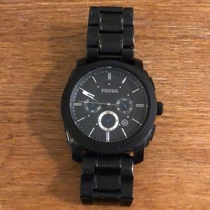 Fossil Machine Chronograph Black Mens Watch